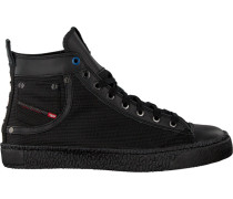Schwarze Diesel Sneaker Magnete Exposure I