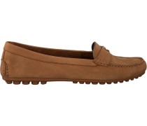 Cognacfarbene Mokassins Moccasin With Chain Detail
