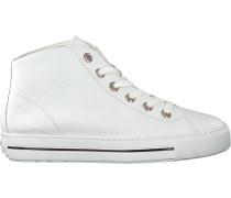 Weiße Paul Green Sneaker High 473-016
