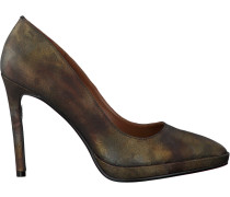 Bronzefarbene Lola Cruz Pumps Salon T.105