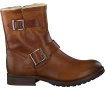 Cognacfarbene Omoda Biker Boots 25606