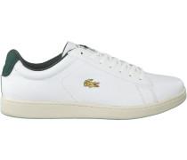Weiße Lacoste Sneaker Carnaby EVO Heren