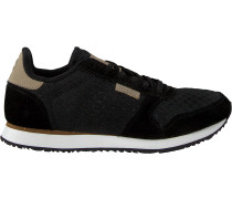 Schwarze Woden Sneaker Ydun Suede Mesh