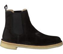 Schwarze Clarks Chelsea Boots Desert Peak