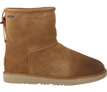 Cognacfarbene Ankle Boots Classic Toggle Waterproof