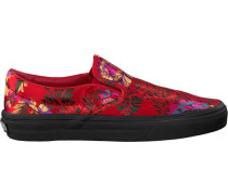 Rote Vans Slip-on Sneaker Classic Slip ON WMN