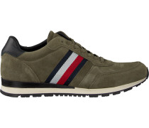 green Tommy Hilfiger shoe Luxery Suede Runner