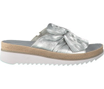 Silberne Gabor Pantolette 729