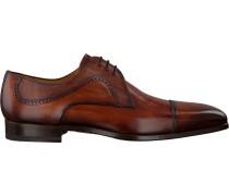 Cognacfarbene Magnanni Business Schuhe 20116