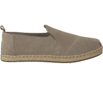 Taupe Toms Espadrilles Deconstructed Alpargata Rope W