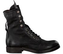 Schwarze Biker Boots 207245 101 6002 Sole Verti