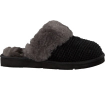Schwarze UGG Hausschuhe Cozy Knit Slipper