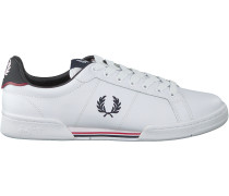 Weiße Fred Perry Sneaker Low B6202