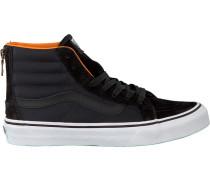 Schwarze Vans Sneaker Sk8-Hi Slim ZIP
