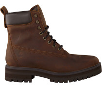 Cognacfarbene Timberland Schnürboots Courma Guy Boot Wp