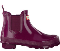 Rote Hunter Gummistiefel Original Chelsea Gloss