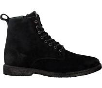 Schwarze Blackstone Schnürschuhe Qm23
