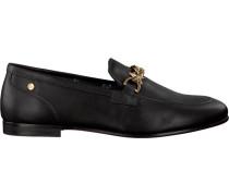 Schwarze Loafer Feminine Loafer Chain