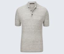 Strick-Polo-Shirt Lelio in Grau