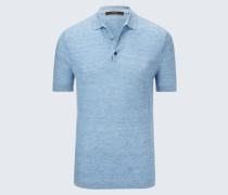 Strick-Polo-Shirt Lelio in Hellblau