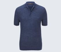 Strick-Polo-Shirt Lelio in Navy