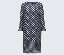 Kleid in Blau gemustert