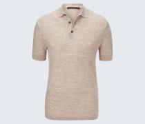 Strick-Polo-Shirt Lelio in Beige