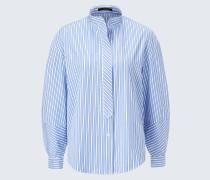 Bluse in Blau-Weiß gestreift