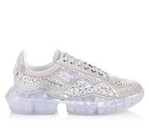 Diamond/m Sneaker aus schimmerndem Wildleder mit Kristallverzierung mit Plateausohle