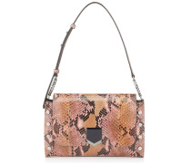 Lockett Shoulder BAG Tasche aus bemaltem Pythonleder mit Dégradé in Muskat und Rose