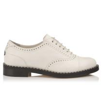 Reeve Flat Flache Schuhe aus Nappaleder in Kreide mit Nietendetails
