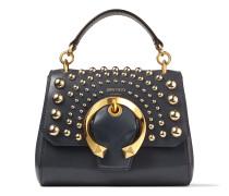 Madeline TOP Handle/s Handtasche aus Kalbsleder in Dämmerungsblau mit Tragegriff und metallischer Schnalle