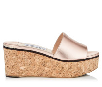 Deedee 80 Wedges aus Nappaleder mit Metallic-Optik in Teerose