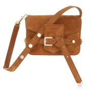 Lexie/s Kleine Tasche aus Wildleder in Muskat