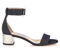 Jaimie 40 Sandaletten aus Denim mit rundem Schnallenverschluss in Indigo
