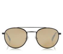 Dave Aviator Sonnenbrille in schwarzem und dunklem Ruthenium