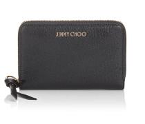 Christie Brieftasche aus weichem genarbtem Ziegenleder in Schwarz