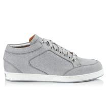 Miami Sneaker aus silbernen Glitzerleder