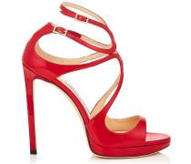 Lance/pf 120 Sandalen aus rotem Lackleder