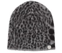 AMY Dunkelgrauer Patchwork-Hut mit Leoparden-Print