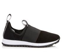 Oakland/f Sneaker aus schwarzem Wildleder und Stretch-Meschgewebe