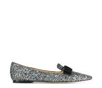 Gala Spitze flache Schuhe aus Glitzergewebe in elektrischem Blau Mix