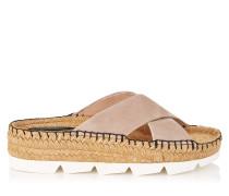 Danae Flat Flache Schuhe aus Wildleder in Ballettrosa