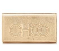 Santini Mini-Tasche aus goldenem Nappaleder mit Metallic-Optik