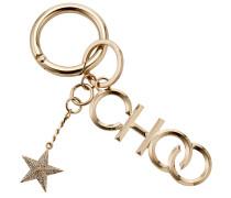 Choo/kr Schlüsselanhänger aus goldenem Metall mit Kristallstern