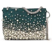 Callie Clutch aus schwarzem Wildleder mit Perlen-Dégradé