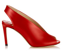 Shar 85 Sandaletten-Booties aus Glanzleder in Rot