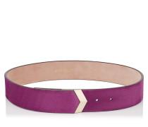 Britt/l Gürtel aus violettrosanem Wildleder
