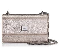 Leni Mini-Tasche aus Faltengewebe in Rose Gold