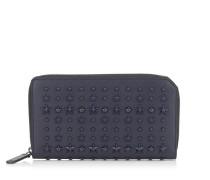 Carnaby Reisebrieftasche aus dunkelblauem Leder mit Sternen
